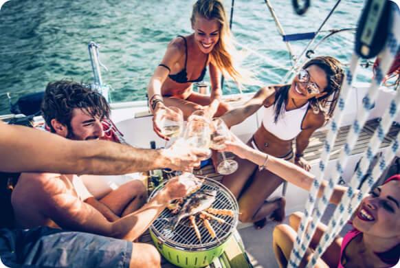 Friends Enjoying a Family Sailing Vacation | Sebastus Sailing