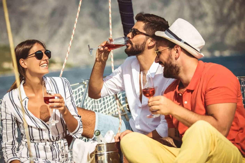 Friends Enjoying Yacht Chater Vacation Package | Sebastus Sailing