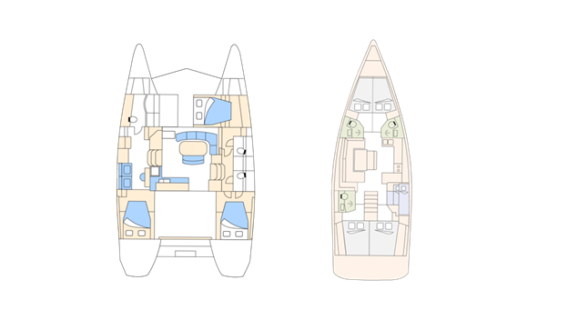 sebastus, sailboat, catamaran, layout